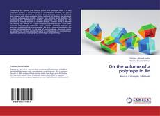 Buchcover von On the volume of a polytope in Rn