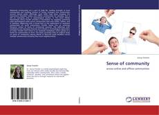Bookcover of Sense of community