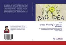 Copertina di Critical Thinking of Chinese Students