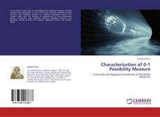 Couverture de Characterization of 0-1 Possibility Measure