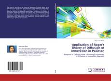 Bookcover of Application of Roger's Thoery of Diffusion of Innovation in Pakistan