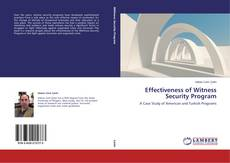 Buchcover von Effectiveness of Witness Security Program