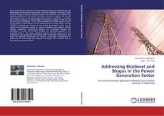 Couverture de Addressing Biodiesel and Biogas in the Power Generation Sector