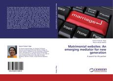 Buchcover von Matrimonial websites: An emerging mediator for new generation