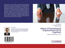 Effects of Psychological Empowerment on Its Cognition kitap kapağı