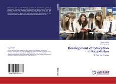 Capa do livro de Development of Education in Kazakhstan
