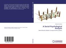 Bookcover of A Social Psychological Analysis