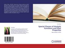 Couverture de Special Classes of Analytic Functions and their Properties