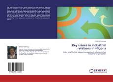 Buchcover von Key issues in industrial relations in Nigeria
