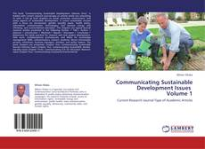 Communicating Sustainable Development Issues    Volume 1 kitap kapağı