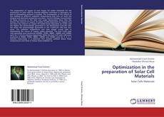 Buchcover von Optimization in the preparation of Solar Cell Materials