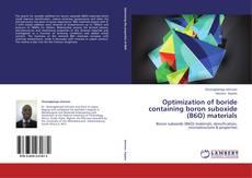 Couverture de Optimization of boride containing boron suboxide (B6O) materials