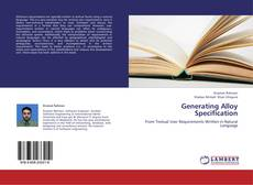 Couverture de Generating Alloy Specification