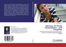 Buchcover von Memory: Of Things Remembered… and Forgotten