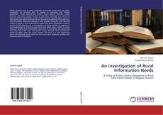 Capa do livro de An Investigation of Rural Information Needs