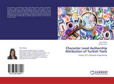 Capa do livro de Character Level Authorship Attribution of Turkish Texts