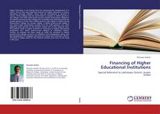 Financing of Higher Educational Institutions kitap kapağı