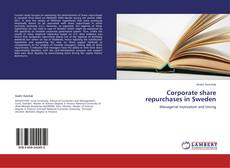 Bookcover of Corporate share repurchases in Sweden
