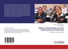 Copertina di Effect of Motivation on Test Performance of First Year