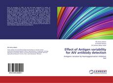 Capa do livro de Effect of Antigen variability for AIV antibody detection