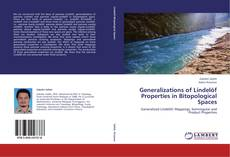 Bookcover of Generalizations of Lindelöf Properties in Bitopological Spaces