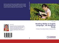 Bookcover of Reading Ability in English Language : An Analytical Study