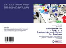 Copertina di Development And Validation Of Spectrophotometric Method For Saquinavir