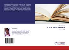 Bookcover of ICT in health sector