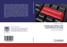 Bookcover of Challenges Before The Constitution of India