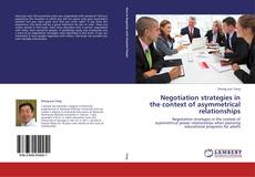 Обложка Negotiation strategies in the context of asymmetrical relationships