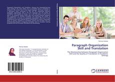 Bookcover of Paragraph Organization Skill and Translation