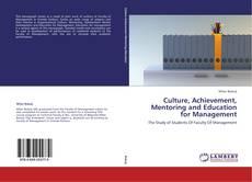 Culture, Achievement, Mentoring and Education for Management kitap kapağı