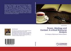 Bookcover of Power, Ideology and Context: A critical Discourse Analysis