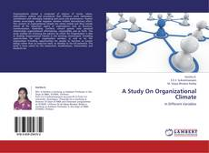 Bookcover of A Study On Organizational Climate