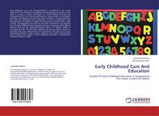 Early Childhood Care And Education kitap kapağı