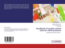 Bookcover of Handbook of quality control tests for sterile products