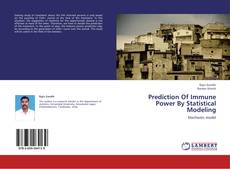 Bookcover of Prediction Of Immune Power By Statistical Modeling