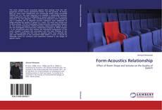 Bookcover of Form-Acoustics Relationship