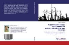 Capa do livro de Краткий словарь цыганизмов в восточнославянских языках