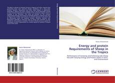 Portada del libro de Energy and protein Requirements of Sheep in the Tropics