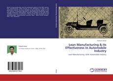 Lean Manufacturing & Its Effectiveness In Automobile Industry kitap kapağı