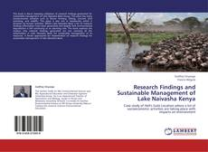 Bookcover of Research Findings and Sustainable Management of Lake Naivasha Kenya