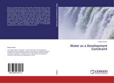 Buchcover von Water as a Development Constraint