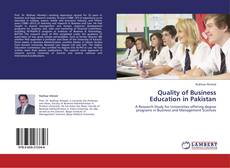 Bookcover of Quality of Business Education in Pakistan