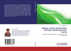 Buchcover von Nigeria: A New Orientation of Public leadership that works