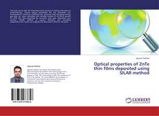 Bookcover of Optical properties of ZnTe thin films deposited using SILAR method