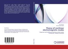 Bookcover of Theory of nonlinear electromagnetic modes