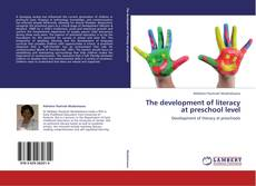 Bookcover of The development of literacy at preschool level