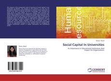 Bookcover of Social Capital In Universities