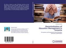 Decentralization of Education Management in Tanzania kitap kapağı